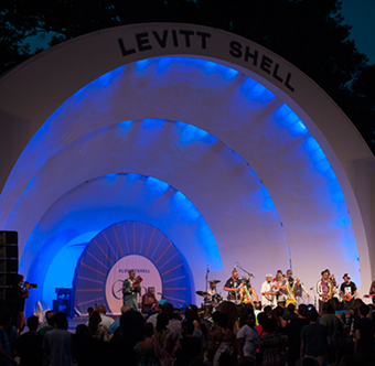 Levitt Shell outside amphitheater