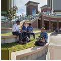 students sitting at amphitheatre