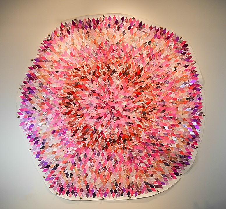 Justin Bowles Sparkle Force Field Paper and Plastic on Paper 96 x 96 inches