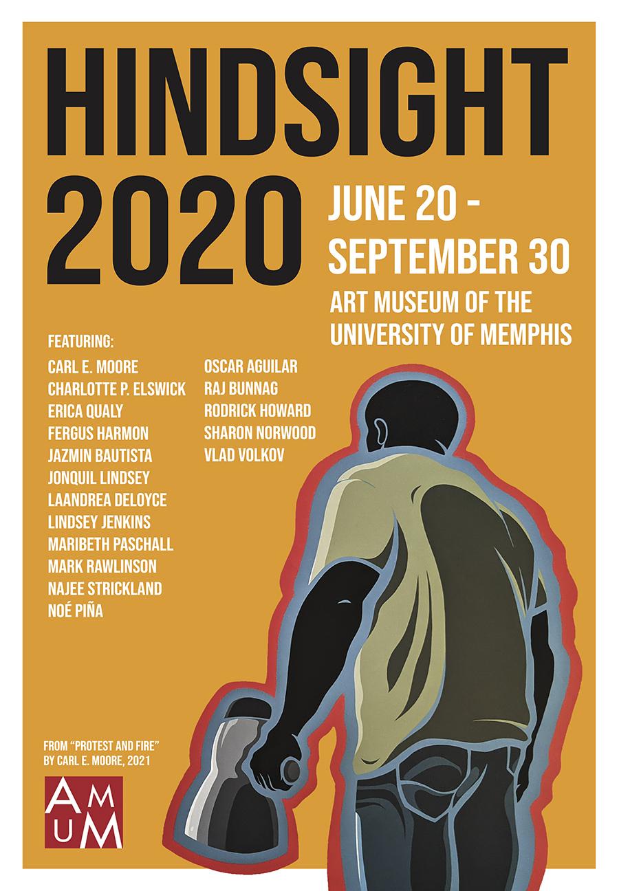 Hindsight 2020 artist list poster