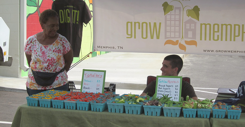 Kenny Latta  representing Grow Memphis at South Memphis Farmers Market