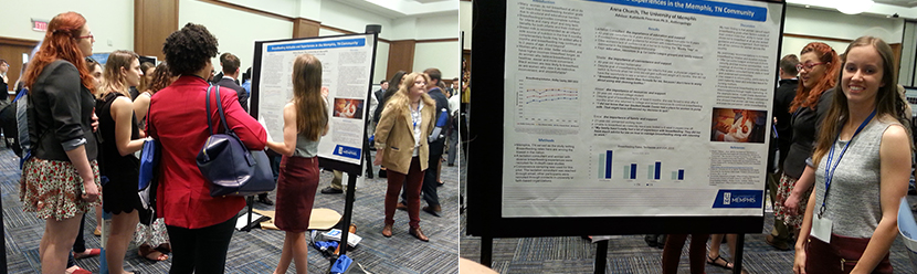 Anna Cash presents poster at NCUR spring 2017