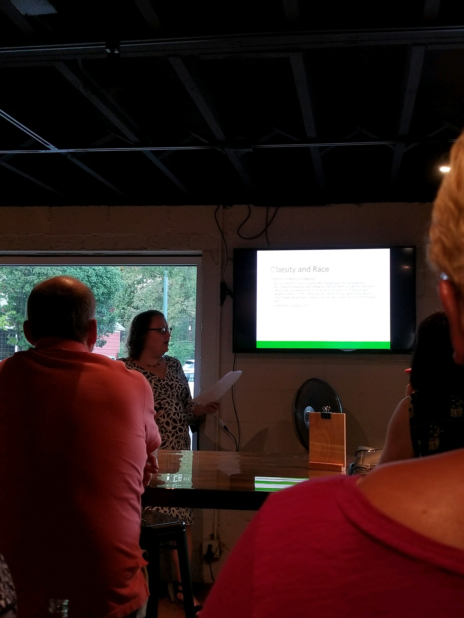 Kathryn Hicks at Humanities on Tap