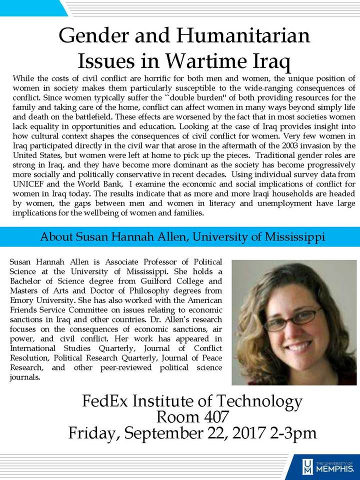 Gender and Humanities in Wartime Iraq