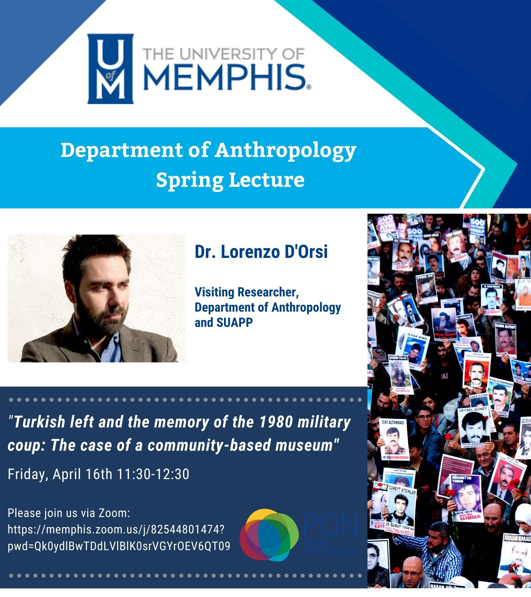 Spring Lecture Flyer (picture of Dr. D'Orsi, same text as description on this page)