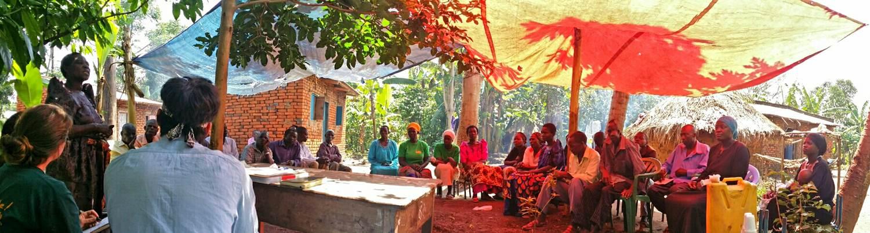 Fieldwork in Uganda with alumna Genesa Gebers