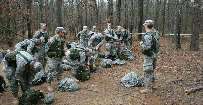 UofM Ranger Company-Members develop skills associated with patrolling, mountaineering, survival training, and other similar activities.