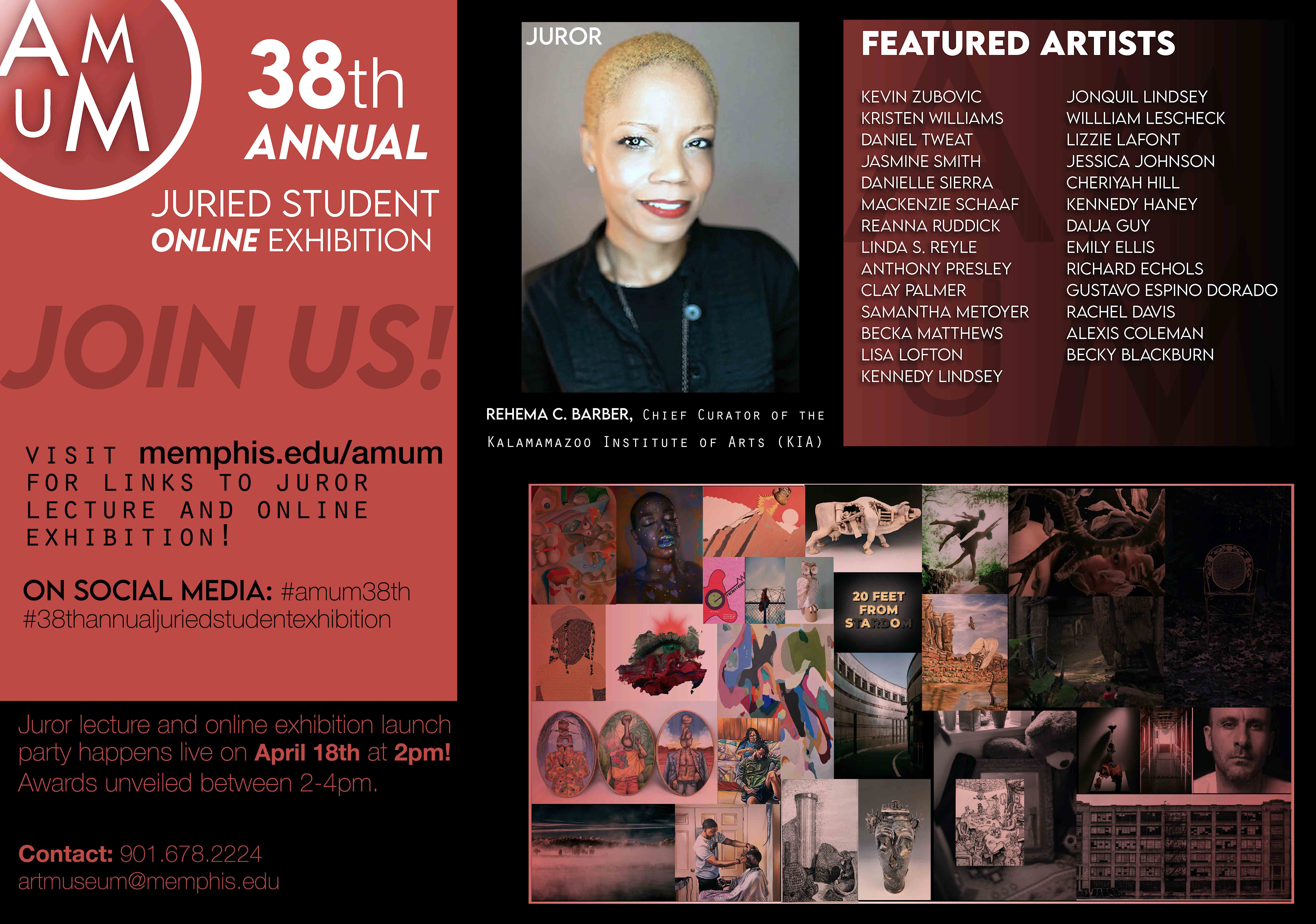 38th annual juried student exhibition