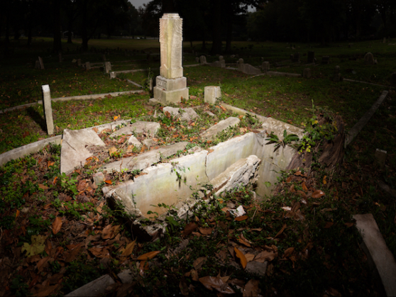 Sacred to the Memory series, Zion Cemetery Open Grave, digital panorama, 2014