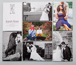 Business card design for Sarah Rossi Photography