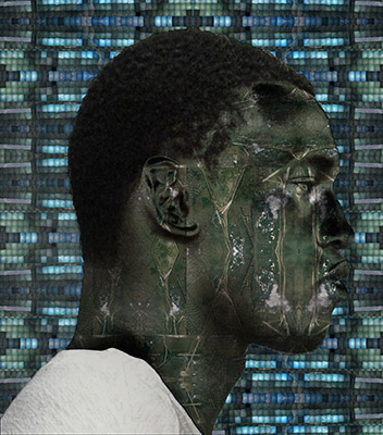 """Aldon Smith, After the Flood, 16""""x20"""" digital collage, 2014"""