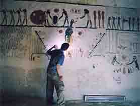 work in the tomb of Ramesses IX