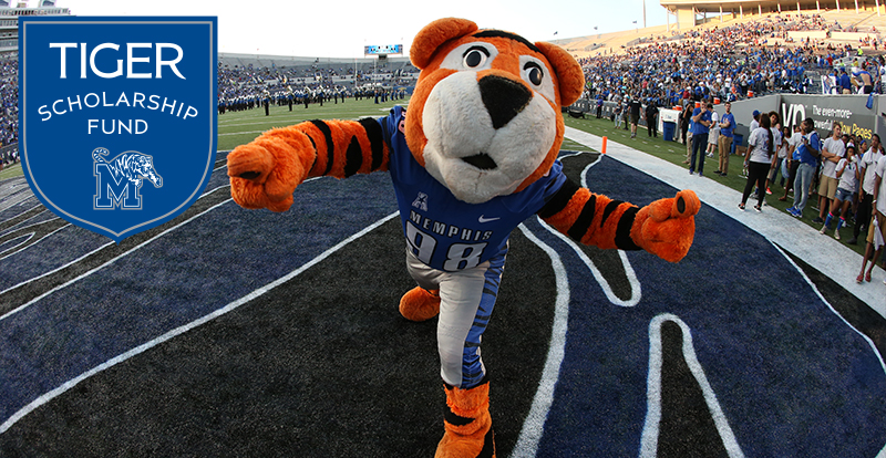 Pouncer, Tiger Scholarship Fund logo