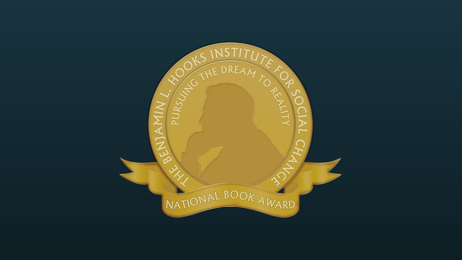 The Benjamin L. Hooks Institute for Social Change. Pursuing the Dream to Reality. National Book Award. Hooks National Book Award Seal.