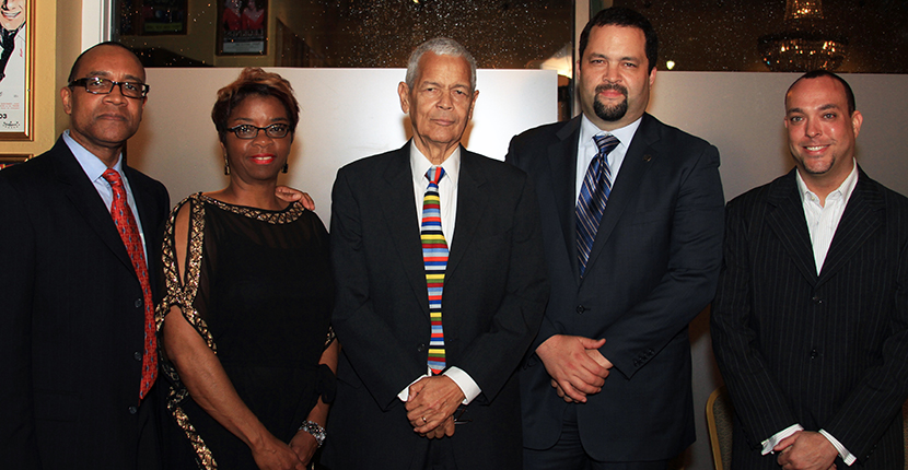 Julian Bond & Benjamin Jealous (center) with Duty of the Hour Production Team