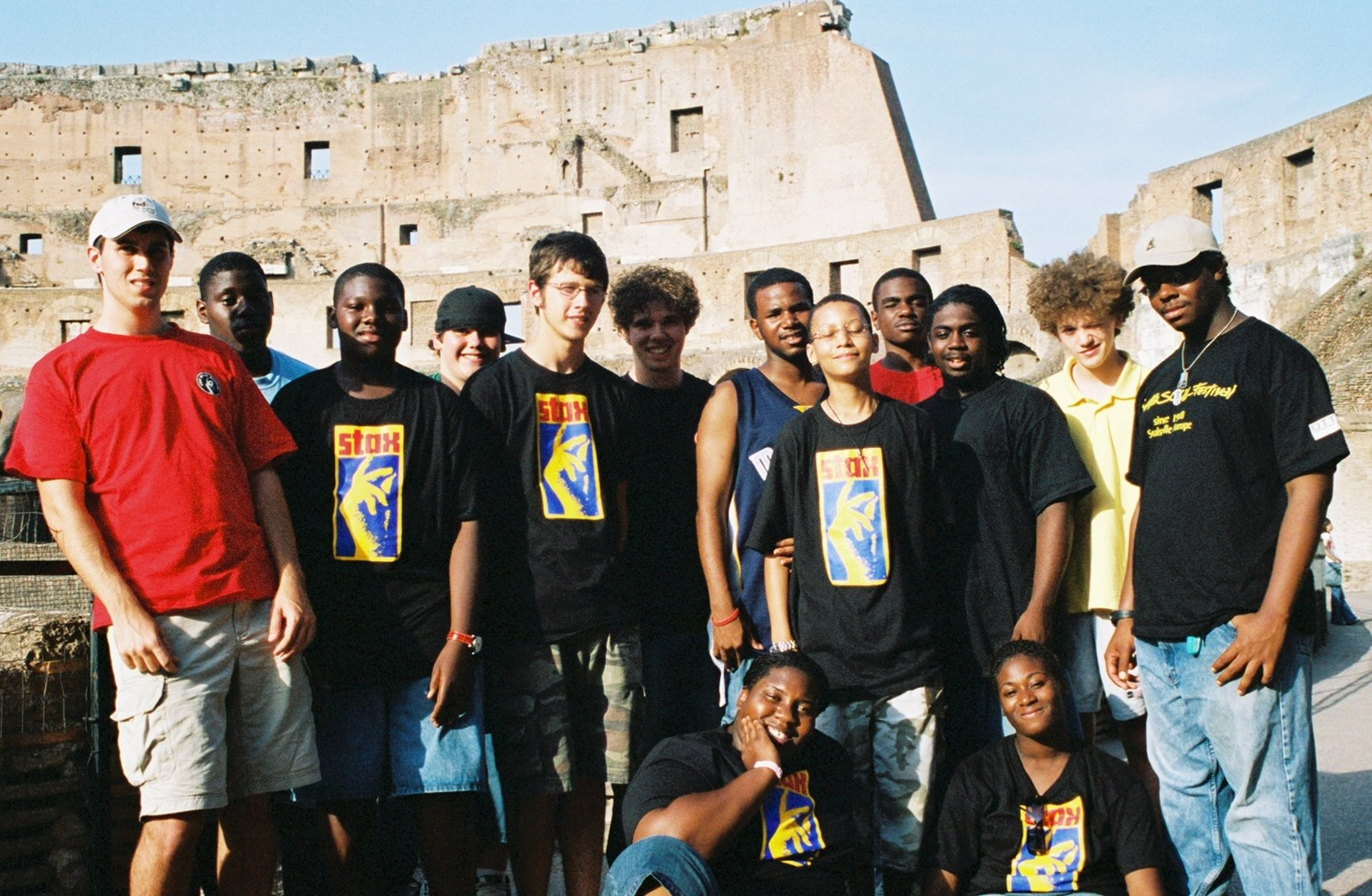 Stax Music Academy Kids at Colosseum in Rome.