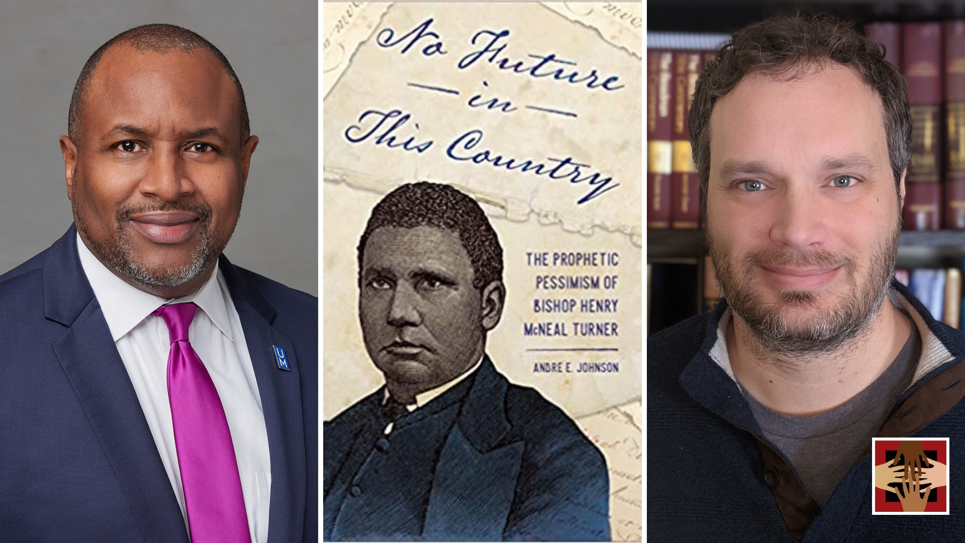 Andre Johnson, Left | Middle No Future in the County Book Cover | Right Tom Fuerst