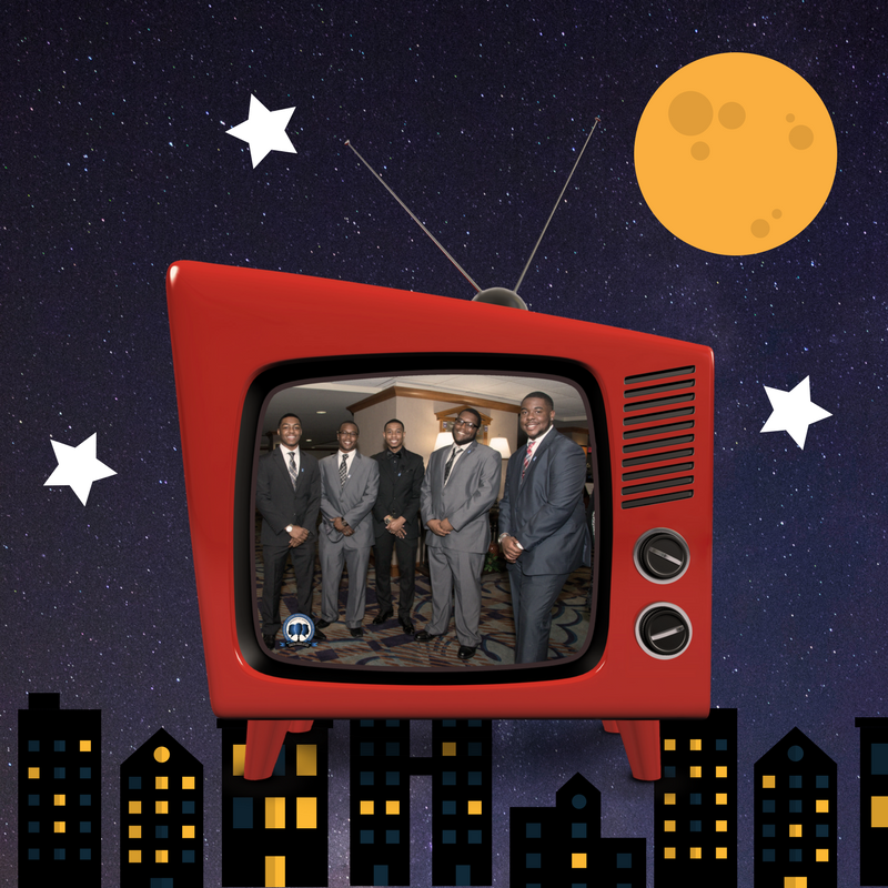 HAAMI students in retro television.
