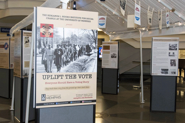 Uplift the Vote Exhihbit opening panel. Ned McWherter Library. Fall 2018