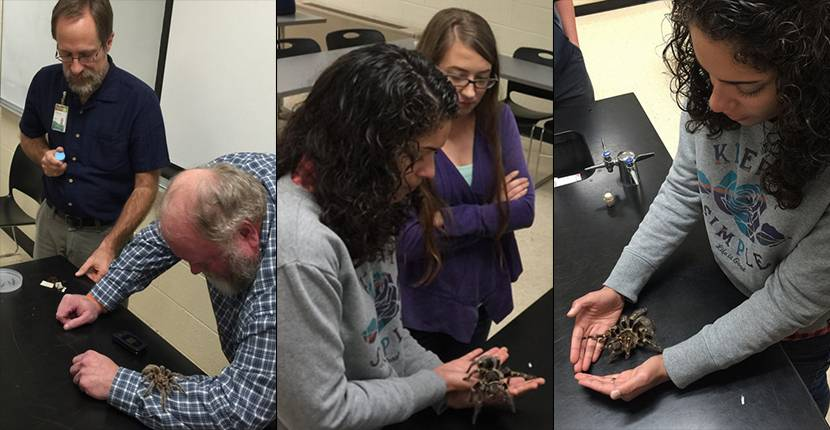 Dr. Steve Reichling, Curator and Herpetologist at Memphis Zoo met with GWIS and brought friends