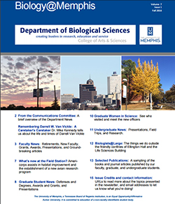 Fall 2016 Biology@Memphis Newsletter