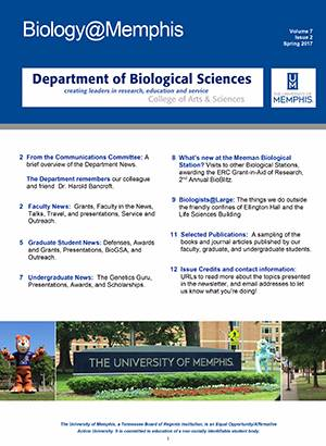 Spring 2017 Biology@Memphis Newsletter