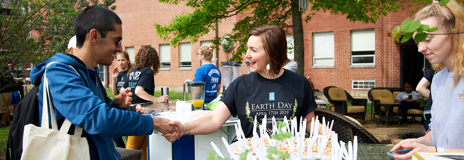 student and volunteer at Earth Day