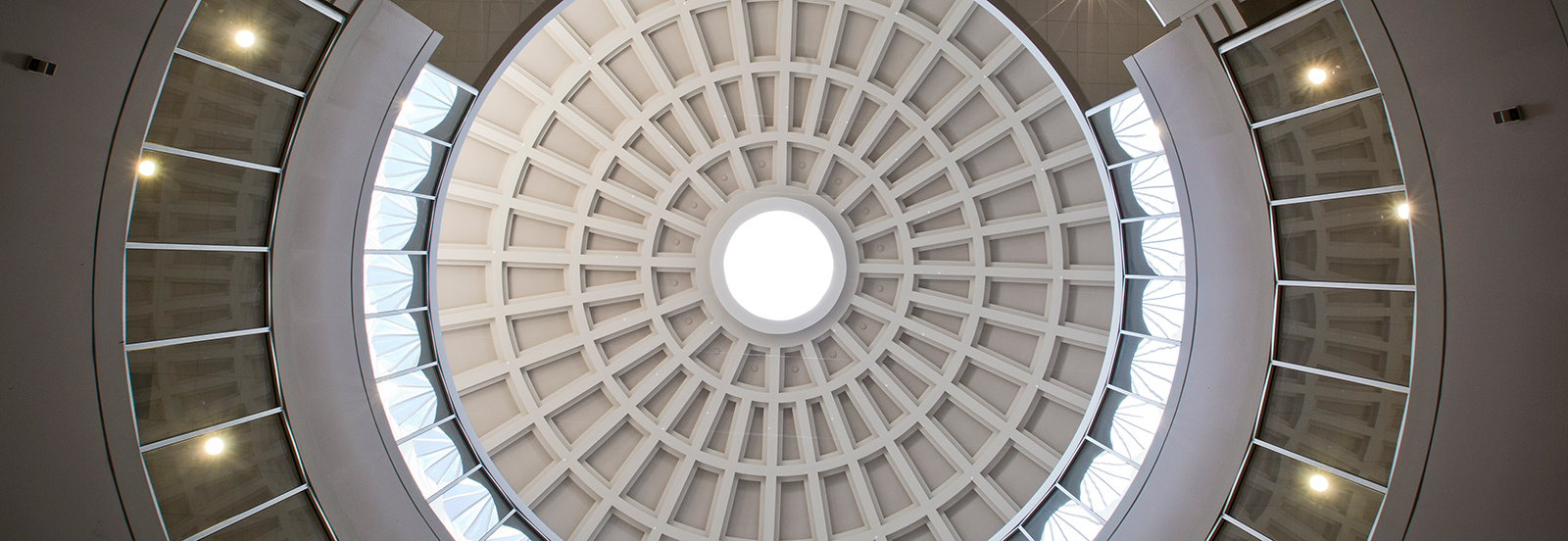 Ceiling in McWherter Llibrary Rotunda