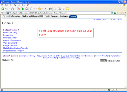 Viewing your budgets in Banner Self-Service