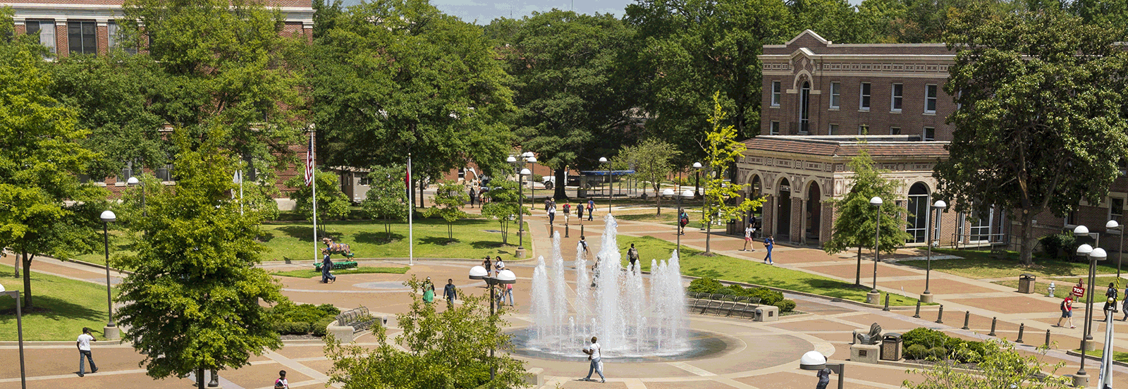 College offices are located in Scates Hall by the Student Plaza and fountain.
