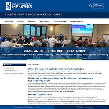 2021 College of Arts & Sciences Accolades