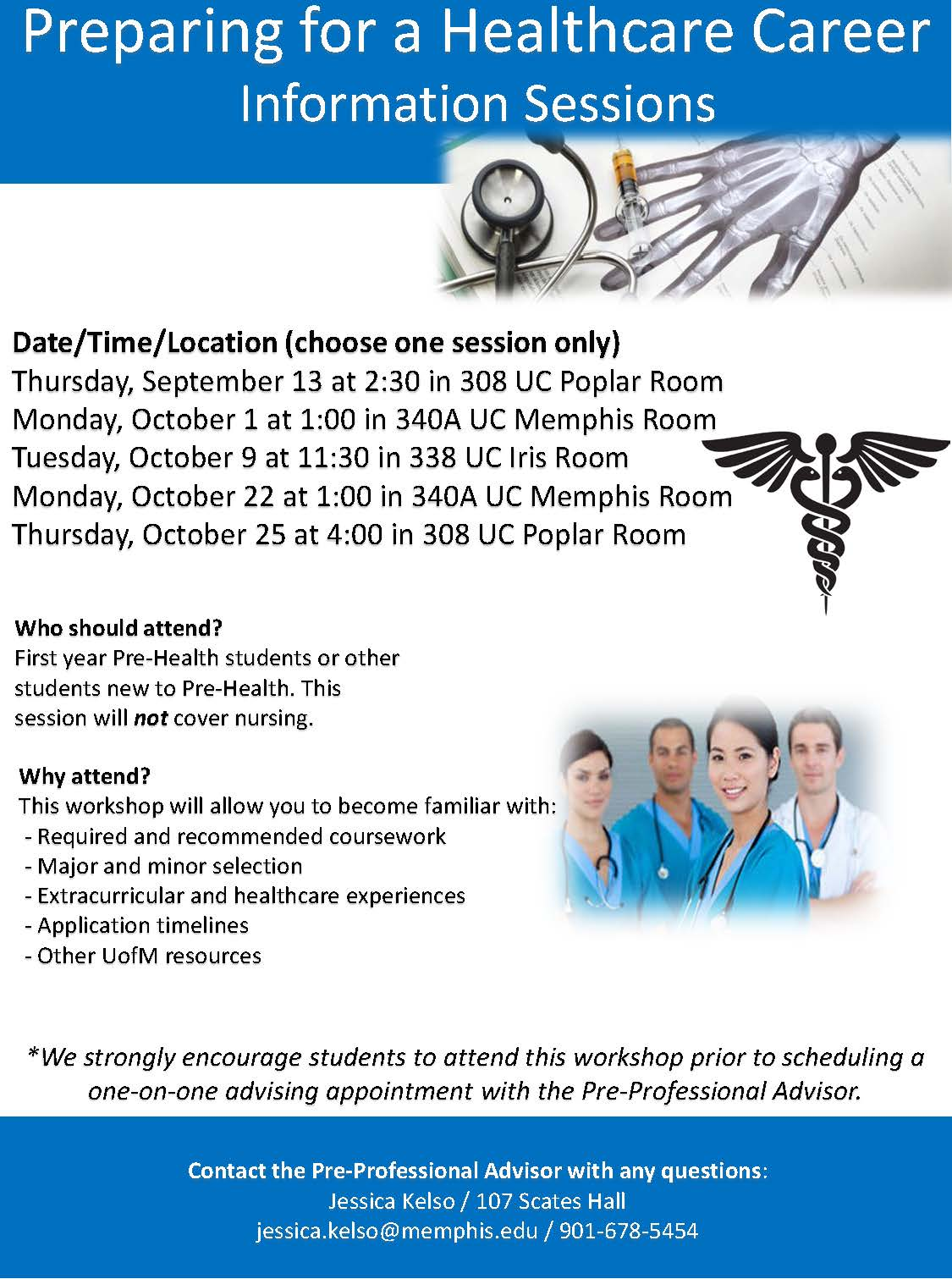 Pre-Health Information Sessions