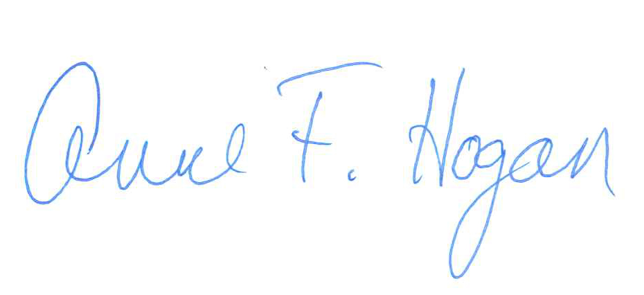 Dean Anne Hogan's Signature