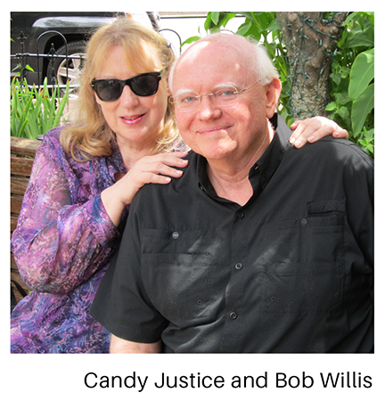 Candy Justice and Bob Willis on porch