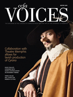 Cover art for Winter 2009 issue of Voices