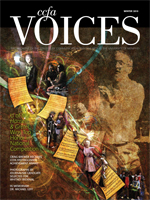 Cover art for the Winter 2010 issue of Voices