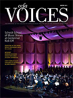 Cover art for the Winter 2012 issue of Voices