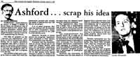 Ashford...scrap his idea news article