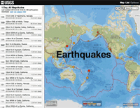 Recent earthquakes across the globe