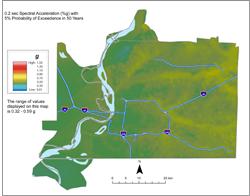 Memphis Hazard Map - 5% in 50 years SA 0.2