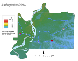 Memphis Hazard Map - 5% in 50 years SA 1.0