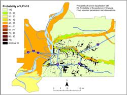 Memphis Hazard Map - 5% in 50 years LPI >15