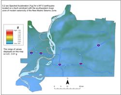 Memphis Hazard Map - NMSW M7.5 SA0.2