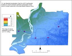Memphis Hazard Map - NMSW M7.5 SA 1.0