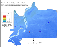 Memphis Hazard Map - NMSW M7.5 PGA