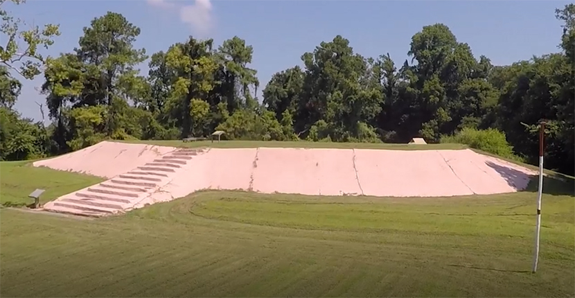 View drone footage of Chucalissa National Historic Landmark