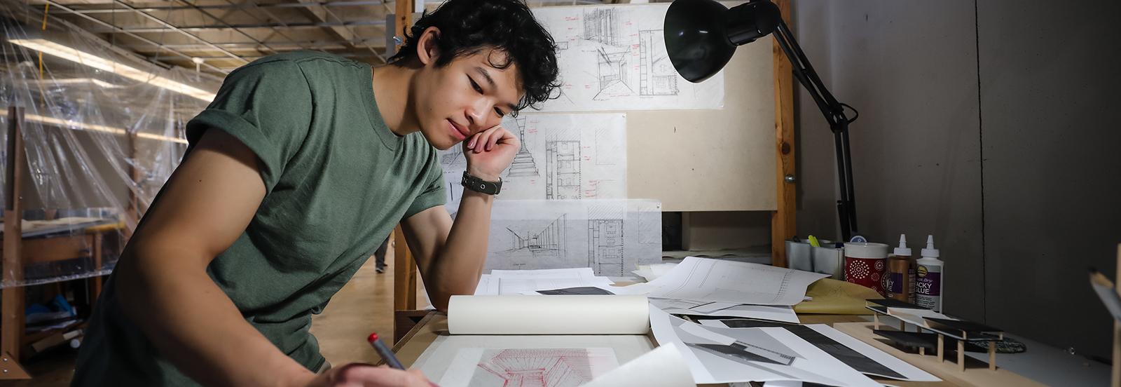 male architecture student