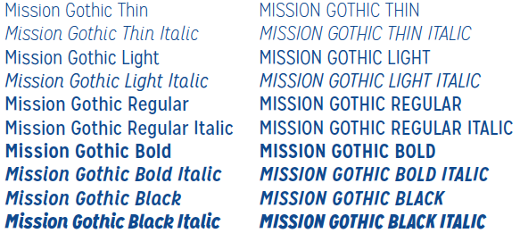 mission gothic