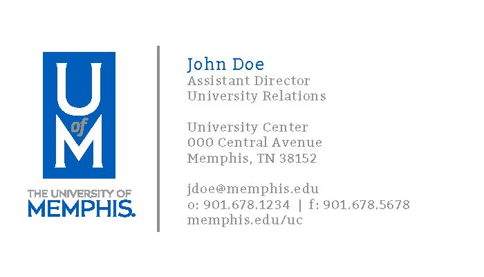 Business cards marketing and communication university for Business cards memphis
