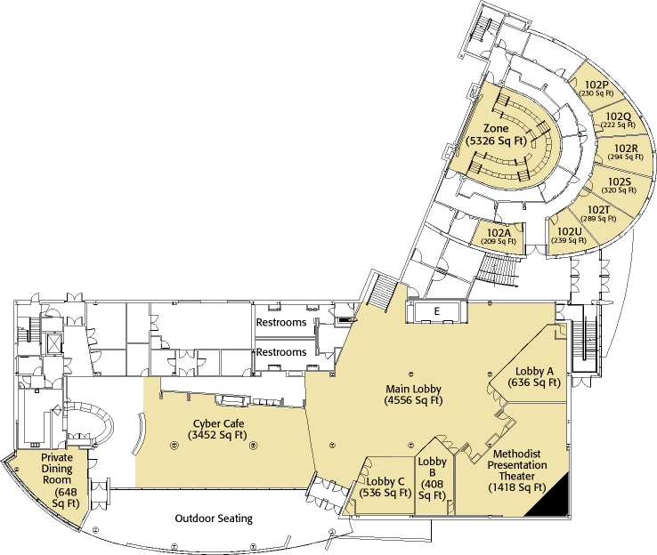 FedEx Institute of Technology First Floor Layout